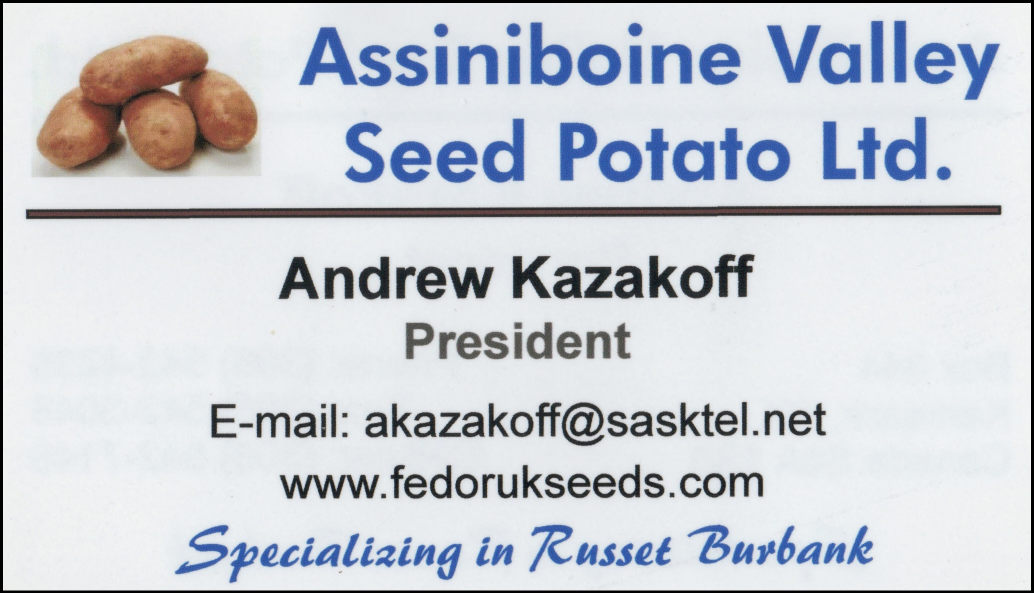 Assiniboine Valley Seed Potato Ltd.