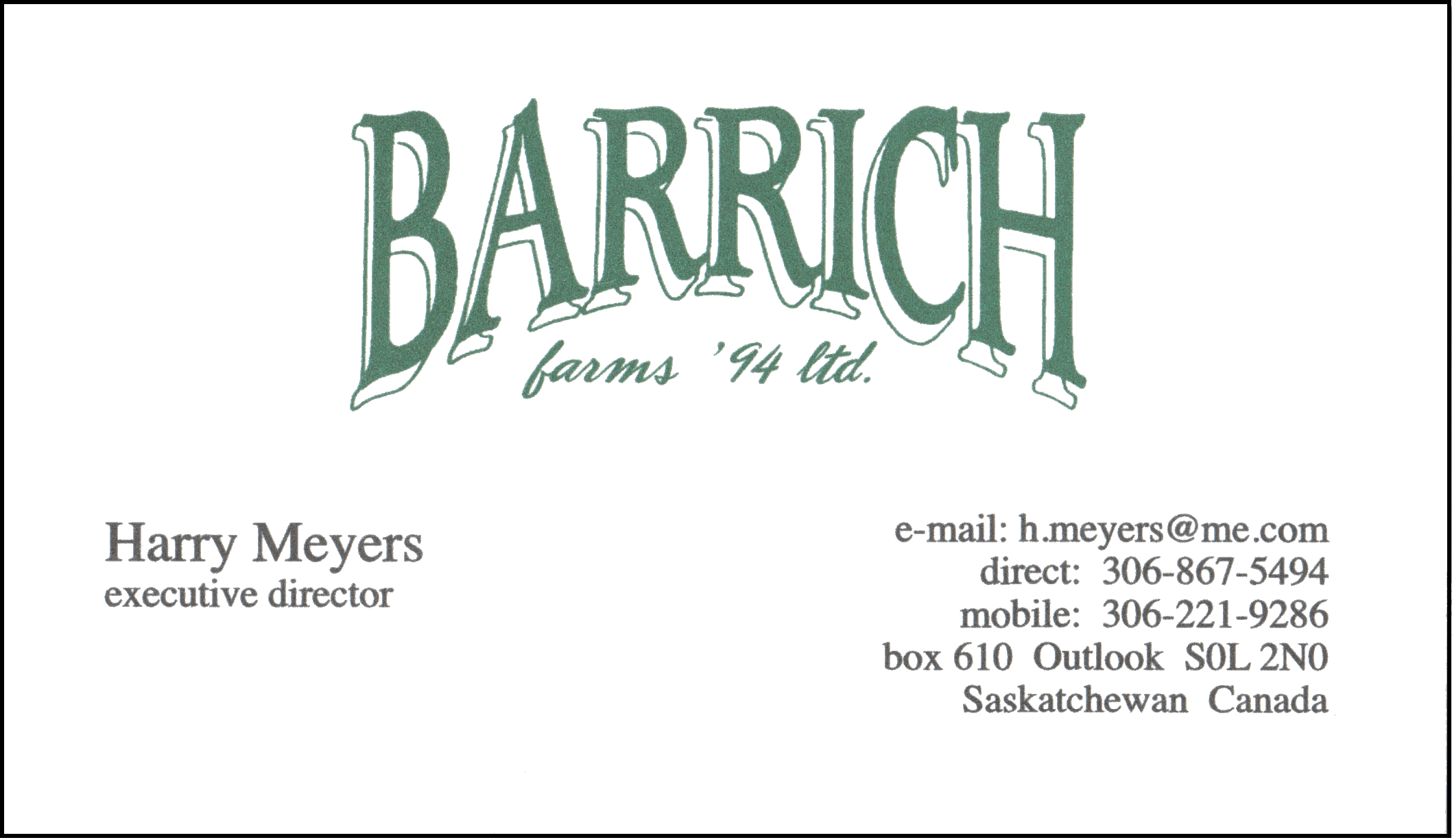 Barrich Farms '94 Ltd.