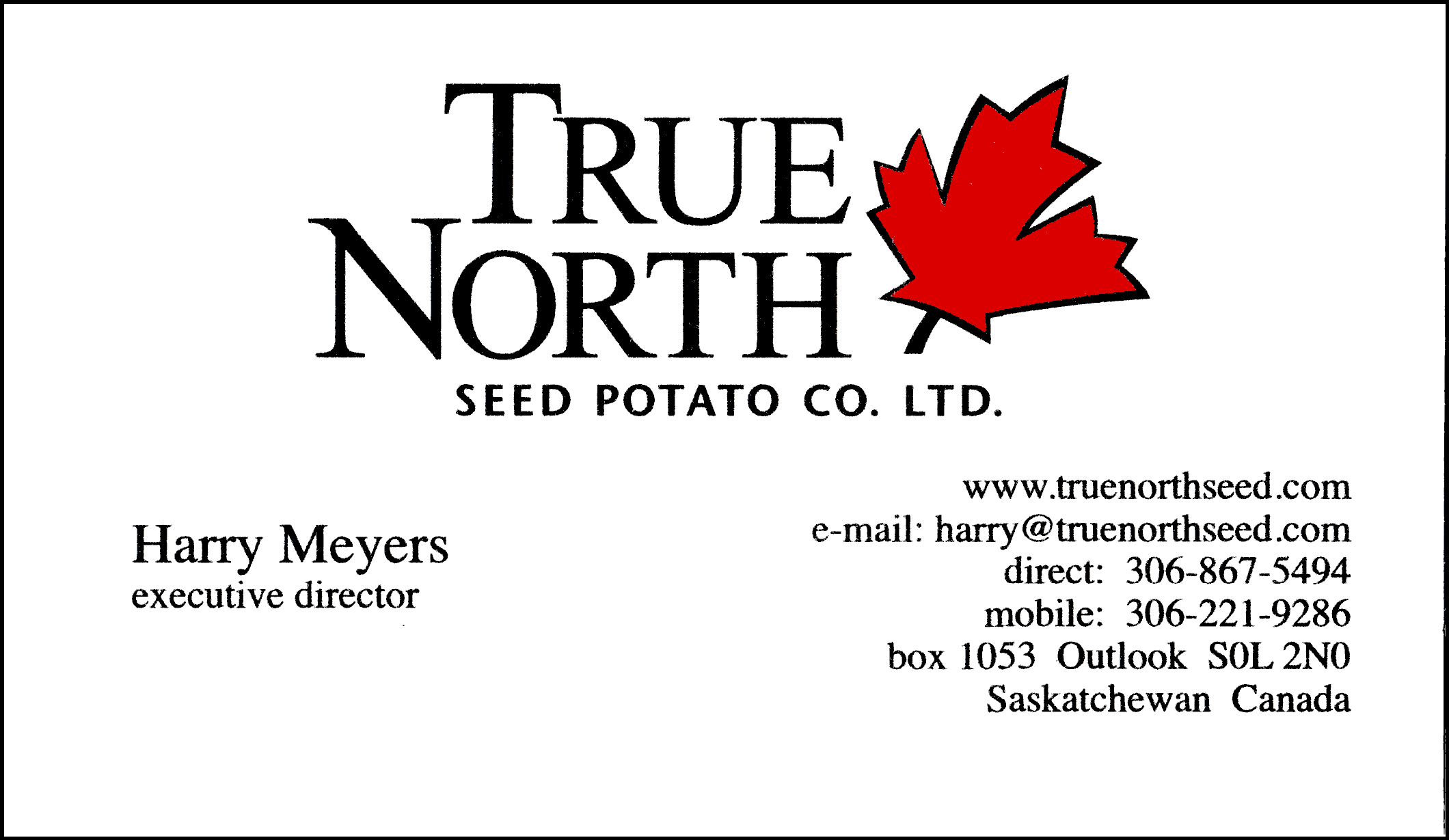 True North Seed Potato Co Ltd.
